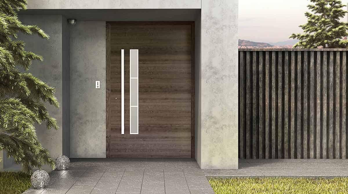 דלתות פיבוט עץ מלא