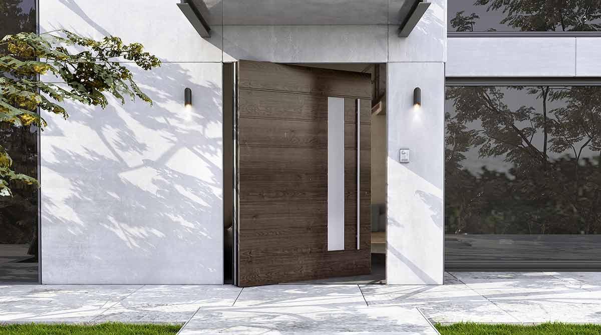 דלתות פיבוט דגמים בשילוב עץ