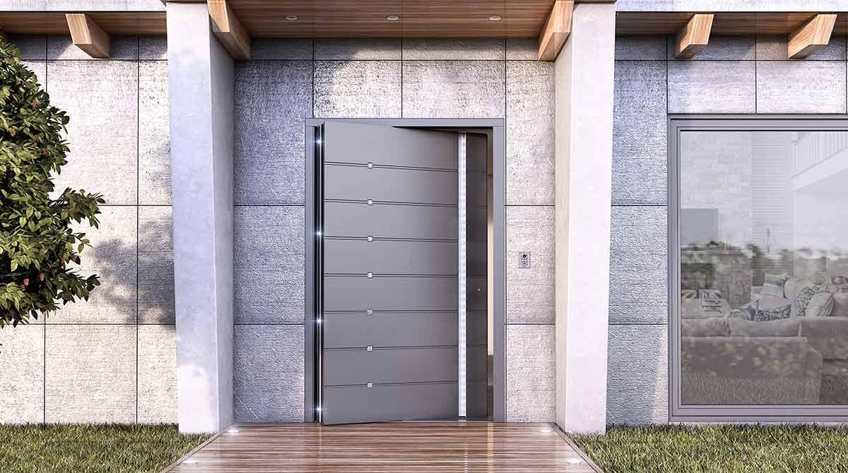 דלתות פיבוט קריפטו גוון אפור