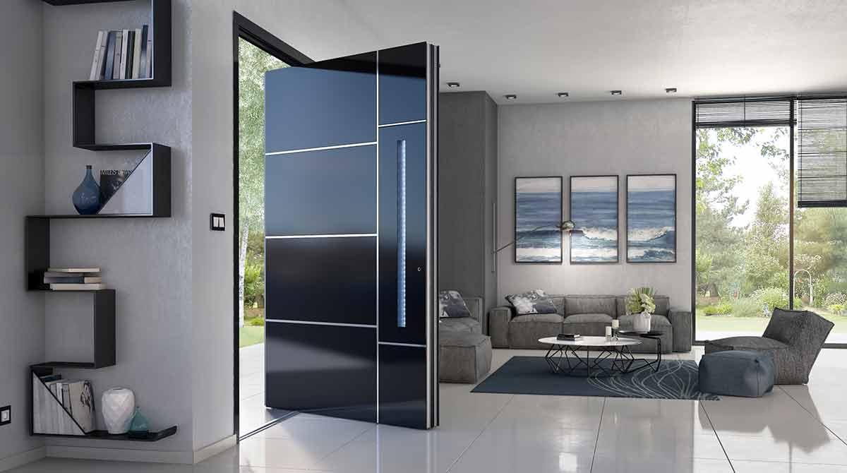 דלתות PIVOT בגוון שחור