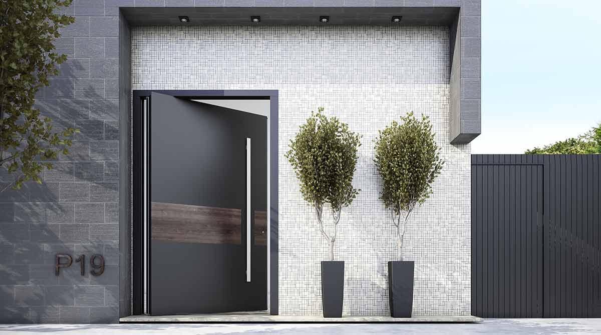 דלתות PIVOT שחורות דגמי 2018