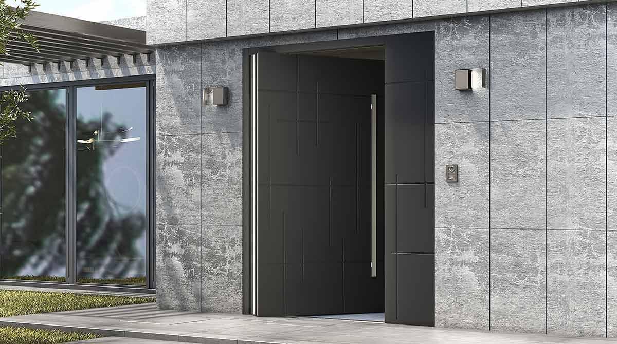 דלתות PIVOT אפור 2018