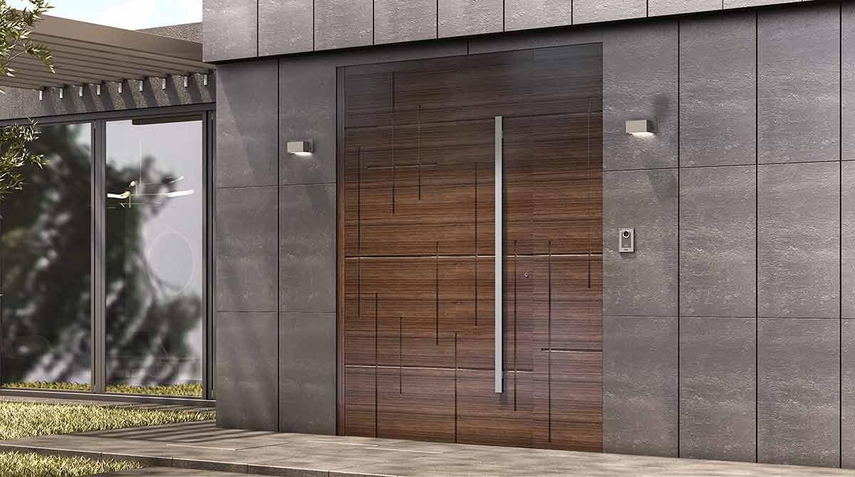 דלתות PIVOT עץ מלא במגוון צבעים