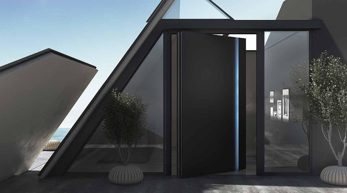 דלתות PIVOT אלומיניום שחור