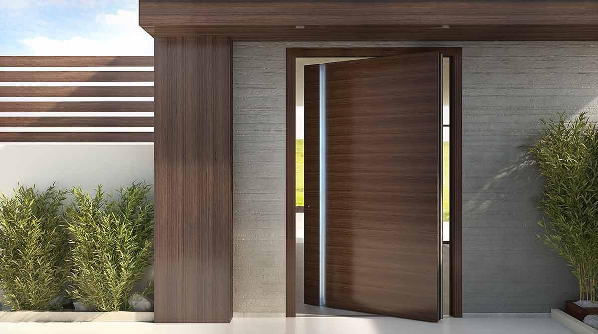 דלתות פיבוט דגמים מעץ