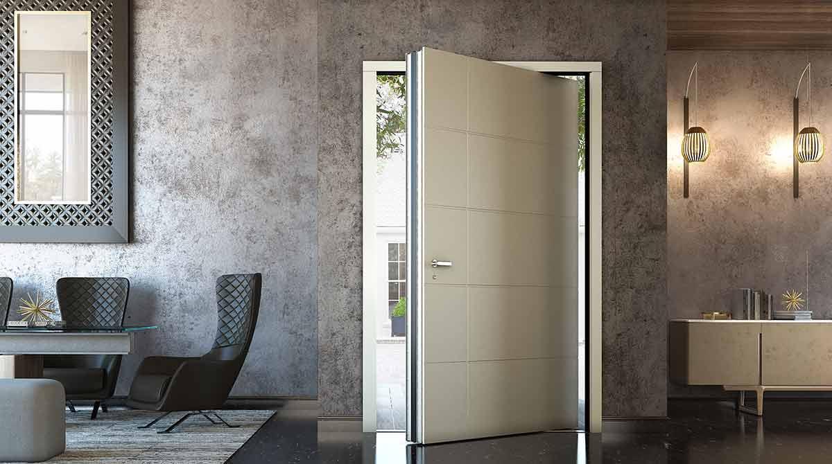 דלתות פיבוט עץ גווני לבן