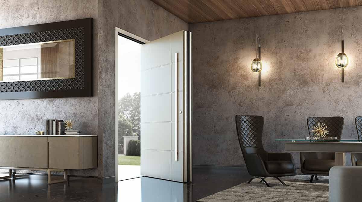 דלתות PIVOT לבנות דגמי 2018