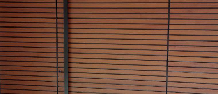 דלת דגם TLS 75 משולבת עם חיפוי